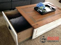 wood coffee table with storage our drawer large round coffee table with storage