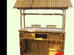 afford a bar tropical bamboo tiki bar 8 hx5 1 2 lx3 5 w tiki hut bars for business home you