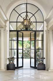 Traditional Cream Entry Hall with Barrel-Vaulted Ceiling