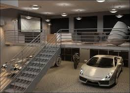 garage inside with car. Garage Pleasing-modern-garage -design-ideas-with-metal-staircase-grey-painted-connecting-to-upper-floor-modern-super- Car-and-classic-car-parked-inside-images Inside With Car G