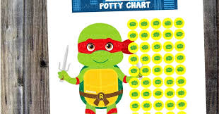Ninja Turtle Potty Training Chart Cs Cards Couldnt Leave The Boys Out Superhero And More