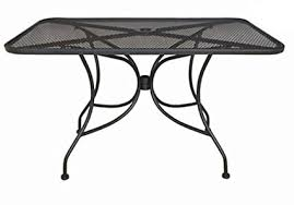 black metal outdoor furniture. Delighful Outdoor Oak Street Manufacturing OD3048 Rectangular Black Mesh Top Outdoor Table  48u0026quot Length X 30u0026quot Inside Metal Furniture M