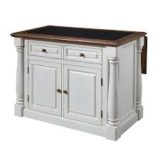 Antique White Kitchen Island Shop Home Styles 48 In L X 25 In W X 36 In H Distressed Antique