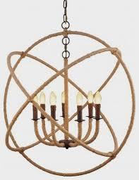 image of rope orb chandelier