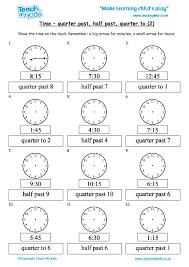Time - quarter past, half past, quarter to (2) - TMK Education