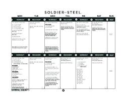 Free Training Schedule Template