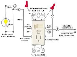 combination switch outlet wiring diagram wiring diagram how to install and troubleshoot gfci