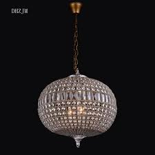 Us 9050 Replica Vintage Large Oval Ball Charming Shabby Chic French Empire Style Bag Crystal Chandelier For Ornaments Hotel Church Led In