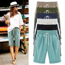 <b>ZOGAA</b> Casual Beige Holiday Beach Lace Up Thin <b>Shorts Women</b> ...