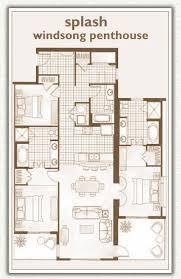 Panama Rental Condos In Panama City Beach: 3.5 BR, 3 BA Penthouse Floorplan