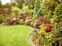 flower bed ideas notched shape garden soothing