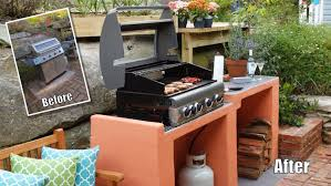 outdoor patio bbq area built in grill plans makeover how build a block ideas designs barbeques