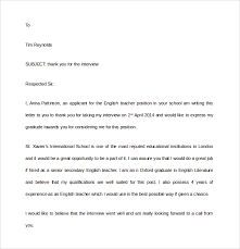 After Interview Thank You Letter Sample Thank You Letter To Headhunter Rome Fontanacountryinn Com
