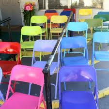 metal folding chair makeovers spray paint diy