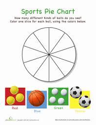 Pie Chart Activities Worksheets Sports Pie Chart Worksheet Education Com