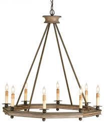 metal and wood chandelier. Currey \u0026 Company Bonfire Wrought Iron/Wood Chandelier By Metal And Wood