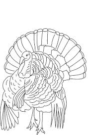 Free Coloring Turkey Print Out Thanksgiving