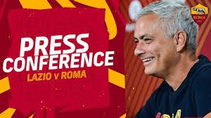 CONFERENZA STAMPA | Mourinho alla vigilia di Lazio-Roma - YouTube
