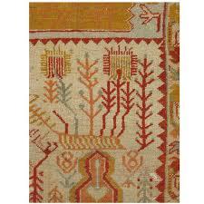 antique oushak carpet handmade oriental rug pale blue green yellow c rug