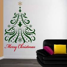 Christmas Decorations For The Wall Tree Wall Decal Christmas Decorations Christmas Tree Arbol