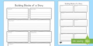 How To Write A Children S Story Template Building Blocks Of A Story Graphic Organizer Writing