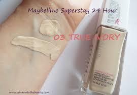 Maybelline Superstay Foundation Light Beige Swatch Maybelline Superstay 24 Hour Foundation 03 True Ivory Swatch