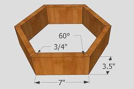 dimensions for hexagon wall shelf