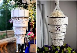 upside down wedding cakes chandelier wedding cakes by edible art by ringku left and by holly s