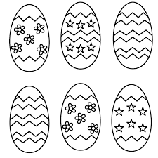 Small Picture free easter egg printable medium sized plain eggs set of 6 free