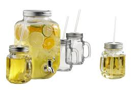 brilliant mason jar yorkshire glass drink dispenser with mason jar mugs with lids and straws zoomed image