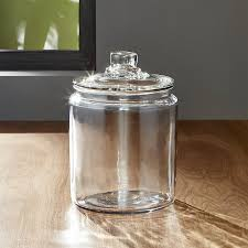 glass jar heritage hill 64 oz with lid reviews crate and barrel