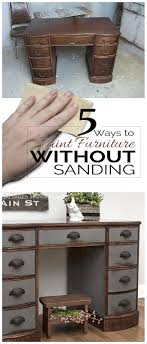 5 ways to paint furniture without sanding