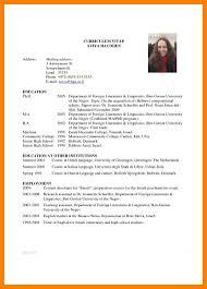 7 Academic Curriculum Vitae Sample Time Table Chart