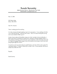 Example Of Job Cover Letter Resume Sample Source