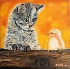 """Peinture """"Complicité"""" ! du peintre Brigitte Dickinson sur ..."""