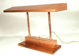 antique desk lamp vintage craftsman style polished copper fluorescent desk lamp comes fixed to an oak