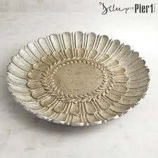 Decorative Bowls And Trays Carved Decorative Round Platter Trays 71