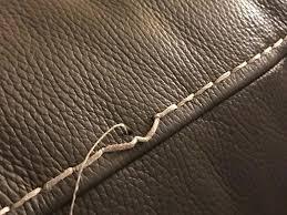 leather sofa ling fix leather sofa how can i repair a damaged seam on leather sofa