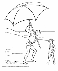 Small Picture July 4th Coloring Pages Beach Umbrella on July 4th Coloring Page