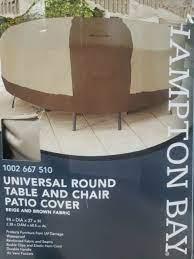 hampton bay universal patio round table