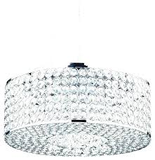 drum shade chandelier with crystals white crystal round oval