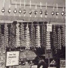 Popular Christmas Decorations from Woolworths in the 1920s - strings of  beads to hang on the