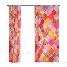 moroccan tile window curtains tile curtain hot pink gold tangerine taupe decorative tile pattern window curtains