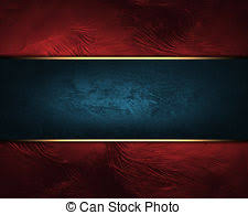 Blue Background With Red Sign With Gold Border Design Template