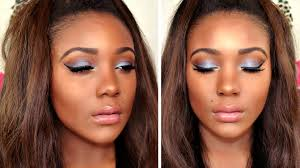 blue smokey cat eye i spring blue eyeshadow makeup tutorial for brown eyes beauty tips beauty video tutorials