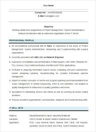 sample network engineering student resume template template for student resume