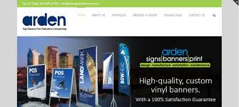 Site Disign Our Web Design Process For Arden Sign Banners New Site