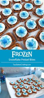Disney Frozen Snowflake Pretzel Bites - yummy bites of sweet and salty  goodness for a Disney