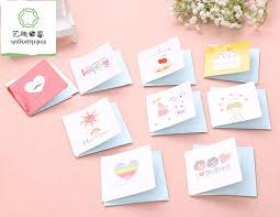 Us 16 25 17 Off 168pcs Lot Cute Small Birthday Cards Kids Small Happy Birthday Greeting Cards With Envelopes In Cards Invitations From Home