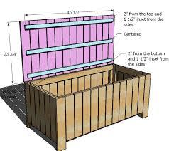diy patio storage bench plans plans free